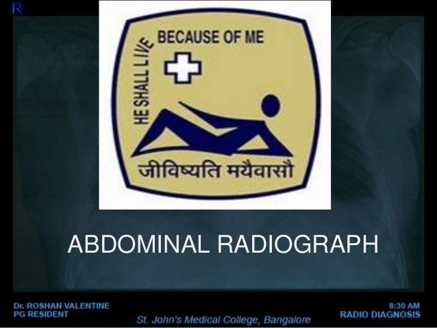 ABDOMINAL RADIOGRAPH