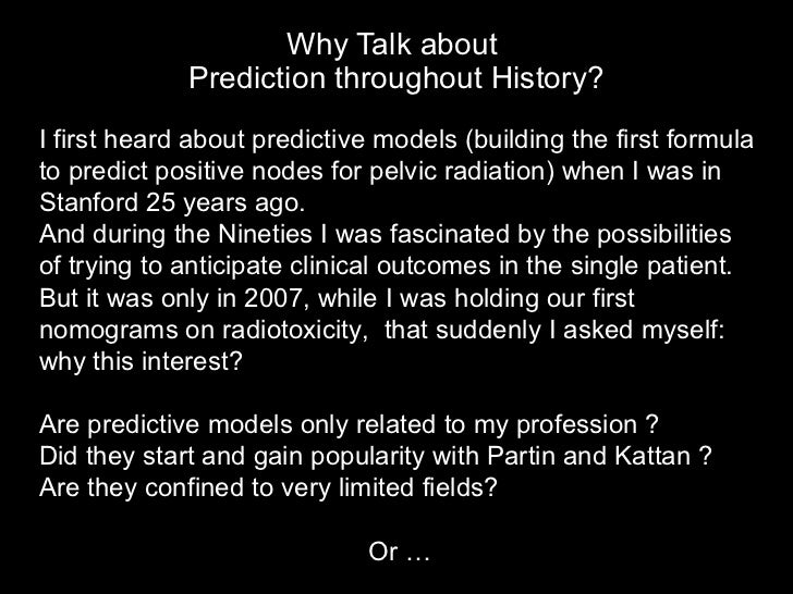 Ny Prostate Cancer Conference R Valdagni Making Predictions Thro