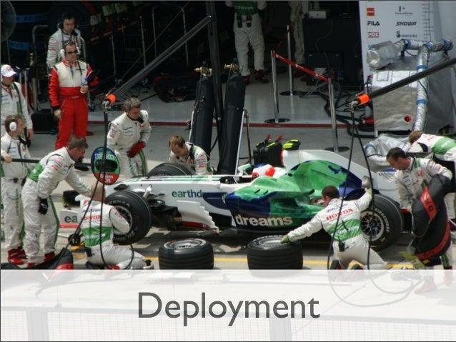 Deployment - Técnicas ‣  Testes de Infraestrutura (TDI)  ‣  Feature Toggle (Ferramenta)  ‣  Blue-Green Deployment  ‣  DB M...