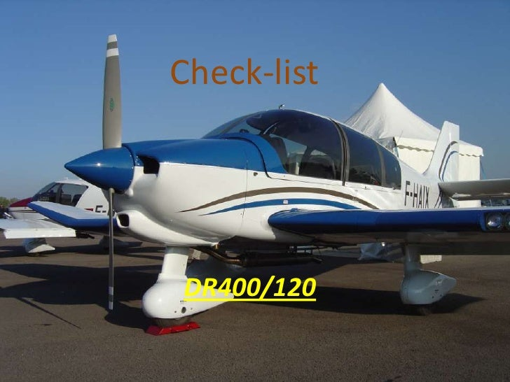 Check-listRévision Aviation    Dr400/120  DR400/120