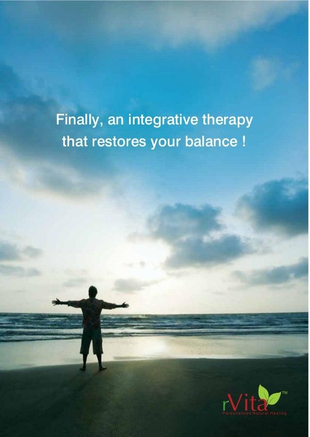 "Finally, an integrative therapy that restores your balance ! rVita Health Centre No.2 ""Tejomaya"", Krishnamachari Avenue, O..."