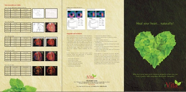 Heal your heart... naturally! Some successful case studies Vessel 20/12/2008 30/04/2009 LAD 100% 60% LCX 50% Normal RCA 10...