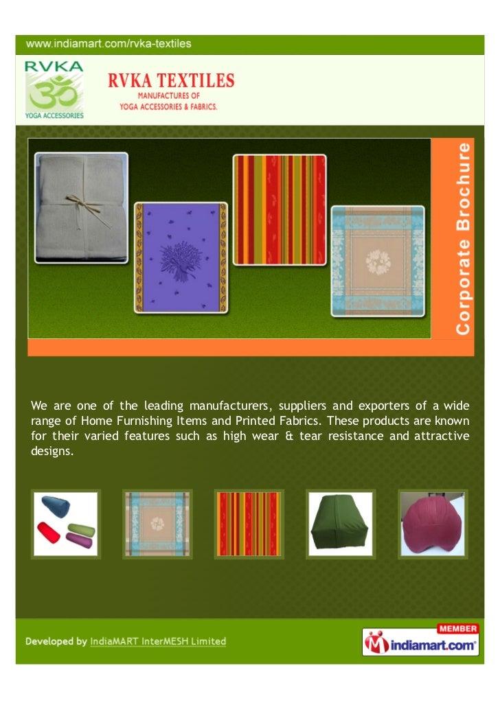 RVKA Textiles, Karur, Home Furnishing Items