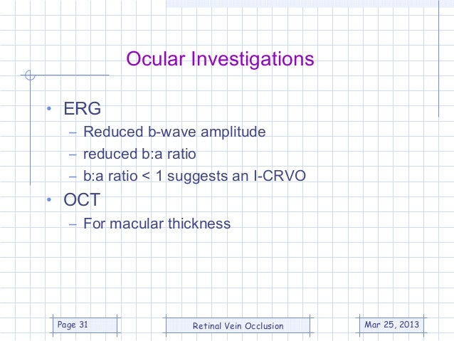 Central Retinal Vein OcclUsIon (CRUISE) Study - Cruise trial