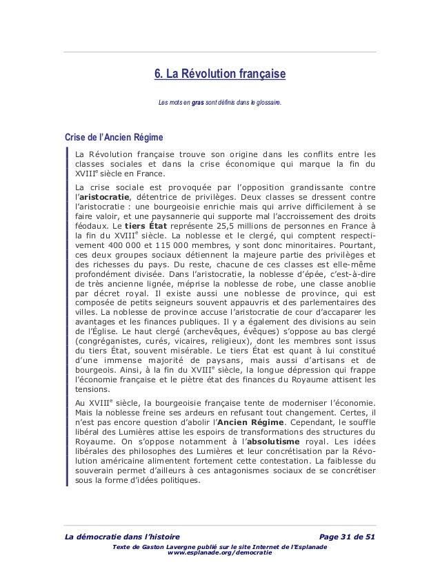 La démocratie dans l'histoire Page 31 de 51 Texte de Gaston Lavergne publié sur le site Internet de l'Esplanade www.esplan...