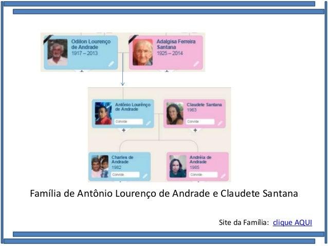 Família de Antônio Lourenço de Andrade e Claudete Santana Site da Família: clique AQUI