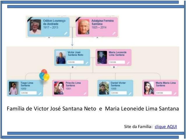 Família de Victor José Santana Neto e Maria Leoneide Lima Santana Site da Família: clique AQUI
