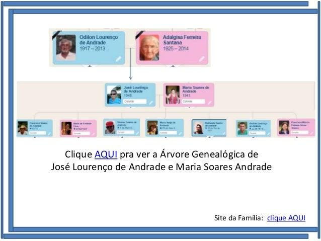 Família de José Lourenço de Andrade e Maria Soares de Andrade Clique AQUI pra ver a Árvore Genealógica de José Lourenço de...