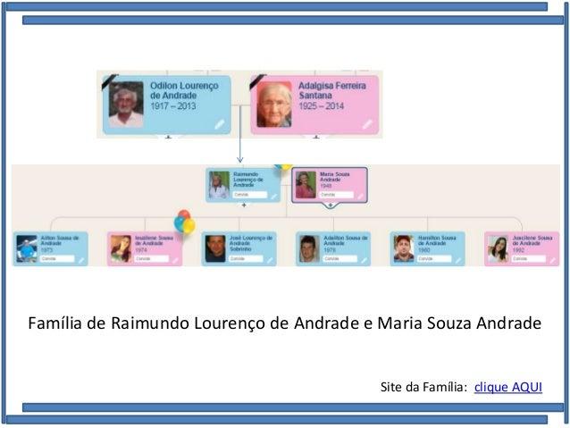 Família de Raimundo Lourenço de Andrade e Maria Souza Andrade Site da Família: clique AQUI