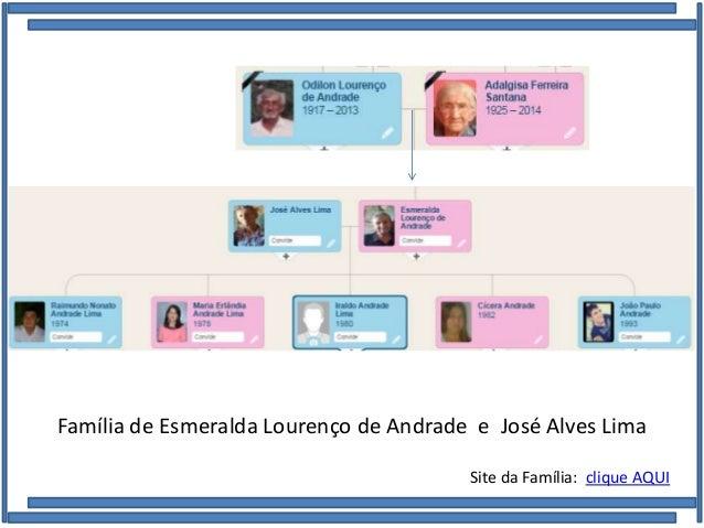Família de Esmeralda Lourenço de Andrade e José Alves Lima Site da Família: clique AQUI