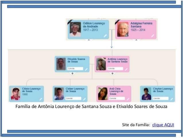 Família de Antônia Lourenço de Santana Souza e Etivaldo Soares de Souza Site da Família: clique AQUI