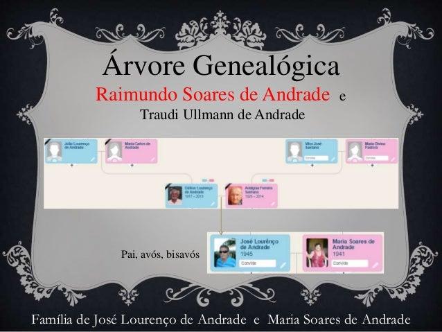Árvore Genealógica  de Raimundo Soares de Andrade e Traudi Ullmann de Andrade Slide 2