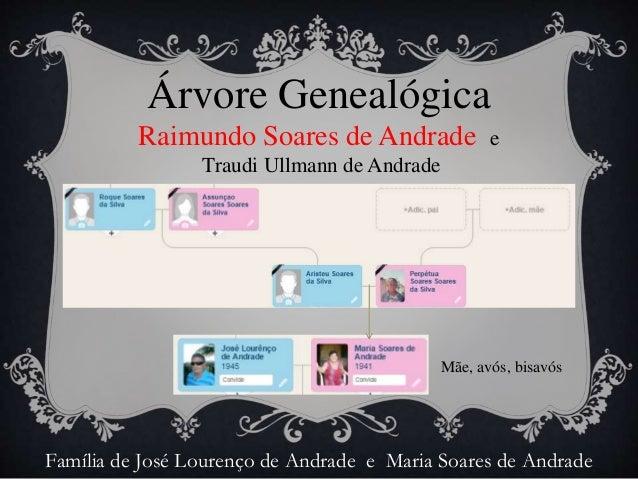Árvore Genealógica  de Raimundo Soares de Andrade e Traudi Ullmann de Andrade Slide 3