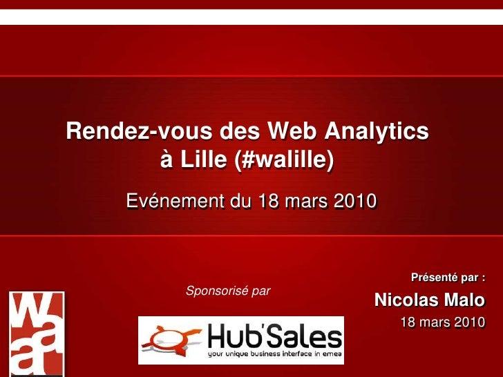 Rendez-vous des Web Analytics à Lille (#walille)<br />Evénement du 18 mars 2010<br />Présenté par :<br />Nicolas Malo<br /...