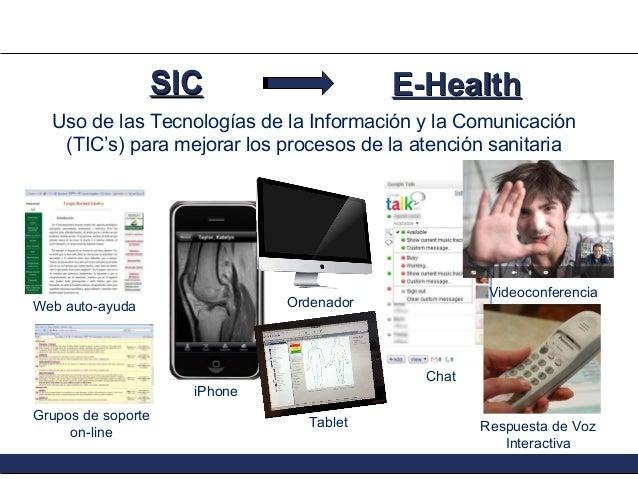 SIC  E-Health  Uso de las Tecnologías de la Información y la Comunicación (TIC's) para mejorar los procesos de la atención...