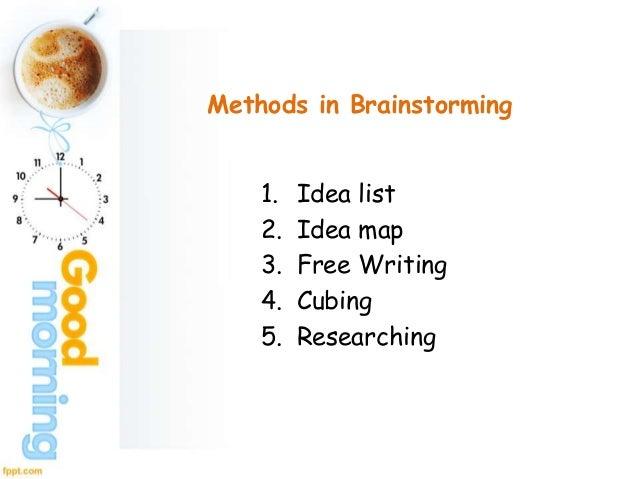 brainstorming lists