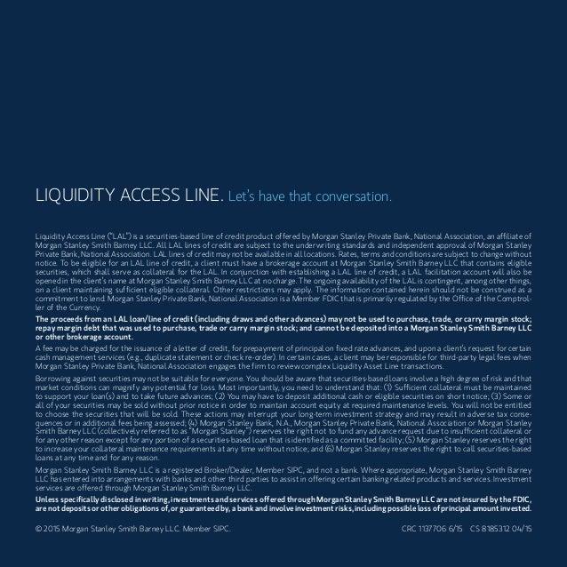 Liquidity Access Line