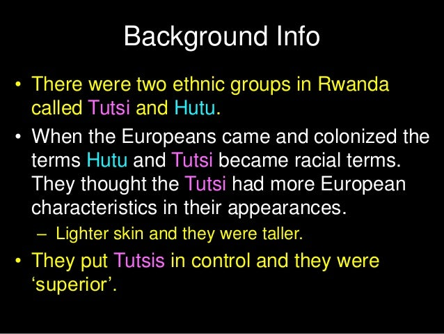 european intervention and the rwandan genocide essay Intervention in the rwandan genocide: prevention preferable, but better intervention second best the hutus and tutsis were not traditionally different, and ethnicity in rwanda only became important during belgium colonization when the more european-looking tutsis were chosen as the aristocracy.