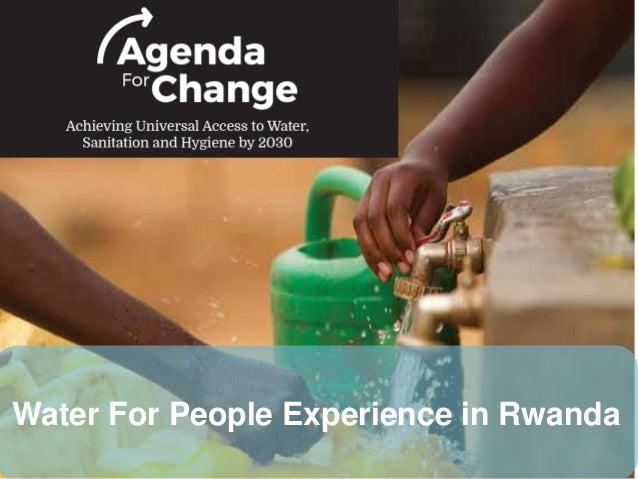 Water For People Experience in Rwanda