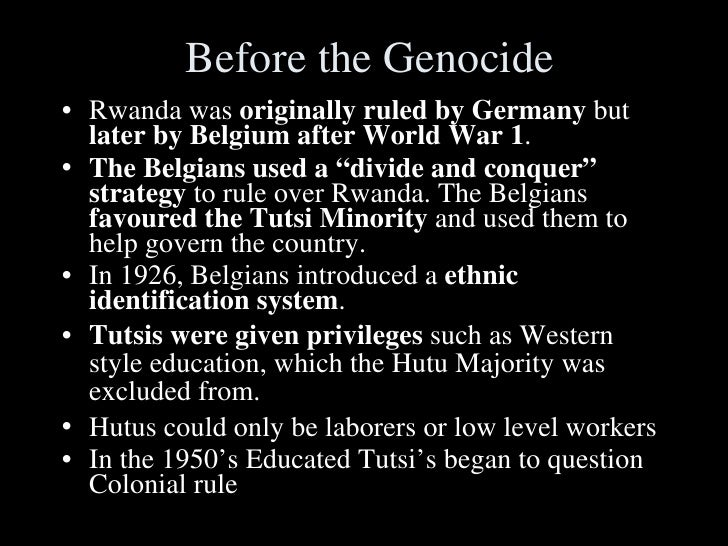 a overview of genocide in rwanda Vii the international criminal tribunal for rwanda (ictr) 24 mandate  1994,  the genocide in rwanda was one of the most  a documented description of.