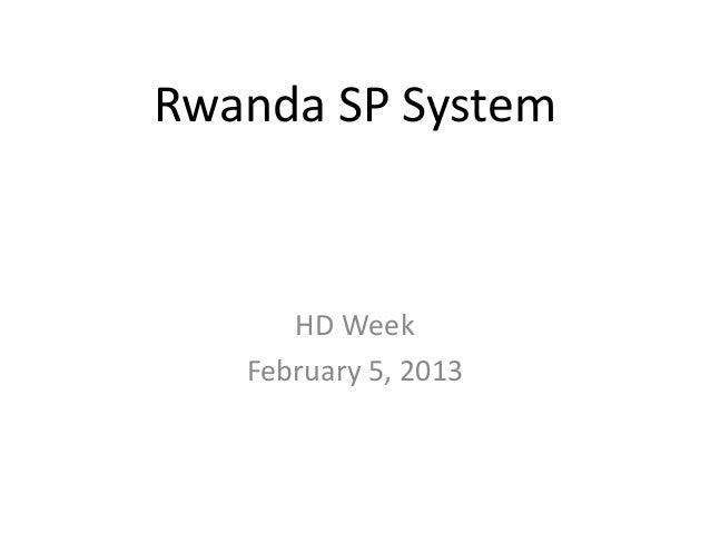 Rwanda SP System HD Week February 5, 2013