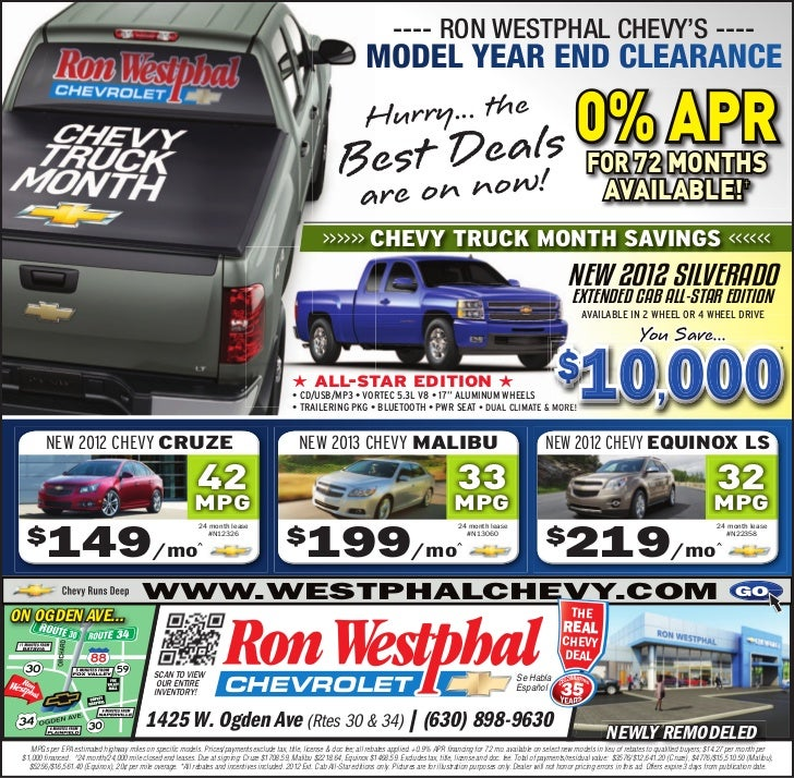 ---- RON WESTPHAL CHEVY'S ----                                                                                            ...
