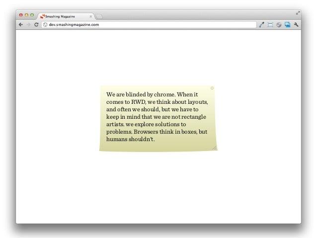 Wir denken dass das Web so aussieht.Als Designer sehen wir uns oft als Pixel-Pusheroder Rectangle Zeichner. So sieht das W...