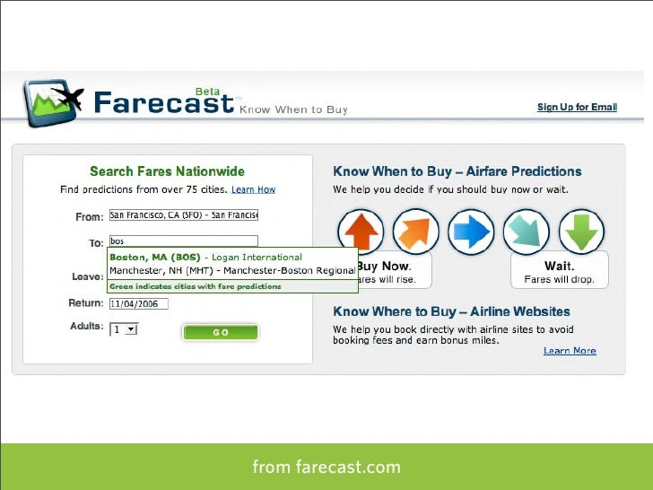 from farecast.com   77