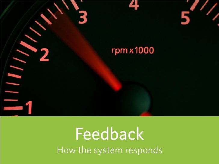Feedback How the system responds   87