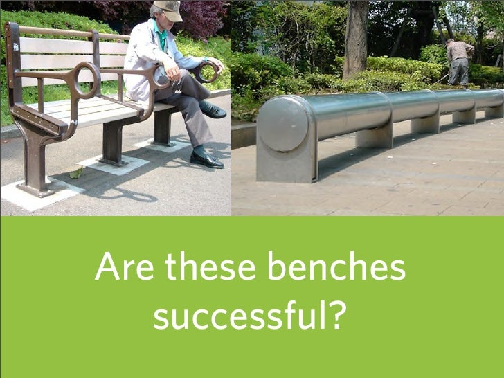 Are these benches    successful?                     15