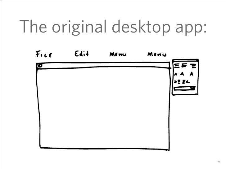 The original desktop app:                                 19