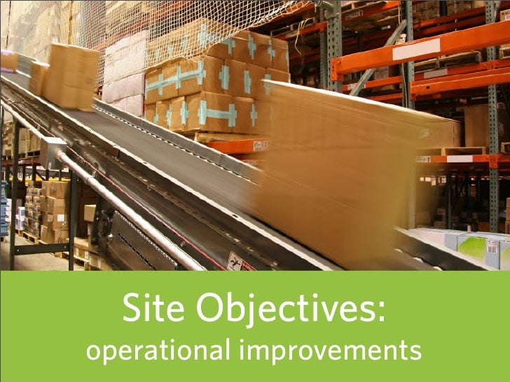 Site Objectives: operational improvements   39