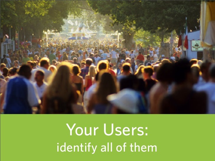 Your Users: identify all of them   40