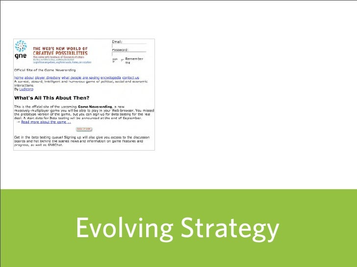 Evolving Strategy                     45