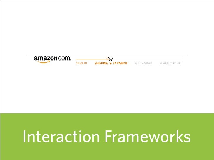 Interaction Frameworks                          55