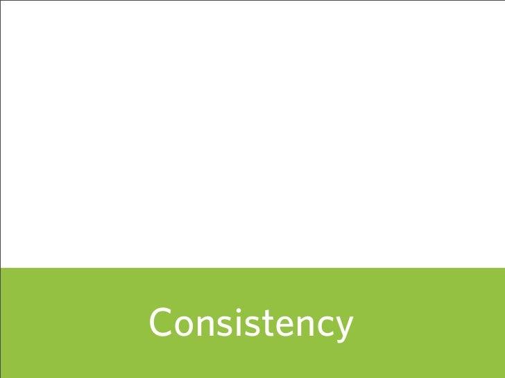 Consistency               62