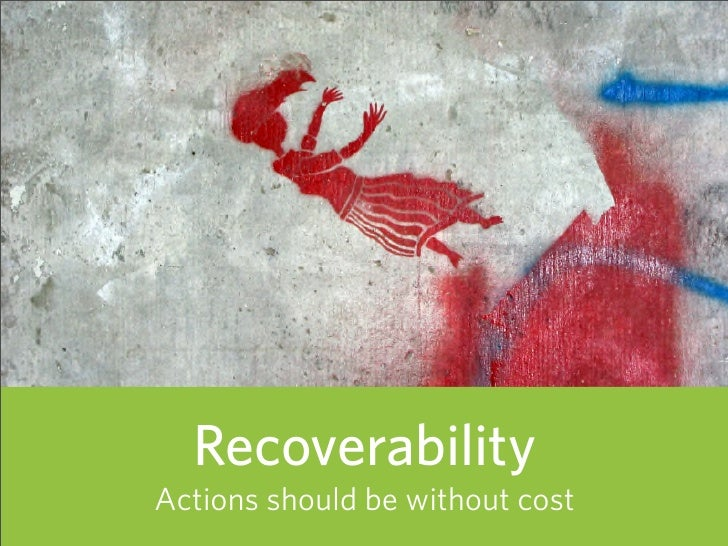 Recoverability Actions should be without cost   72