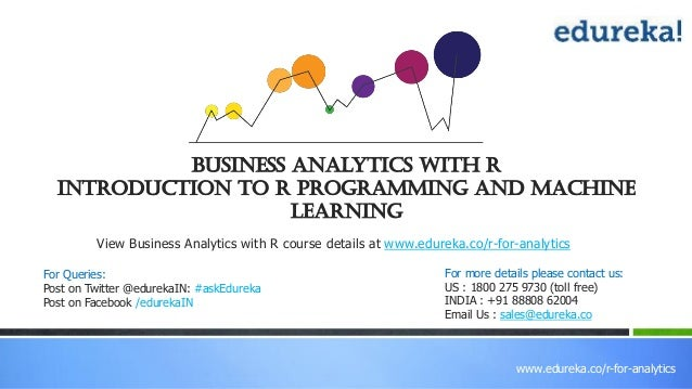 introduction to r # the generated output should be provided when sending questions or bug reports to the r and bioc mailing lists $ r -h # or 'r --help' provides help on r environment, more detailed information on page 90 of 'an introduction to r'.