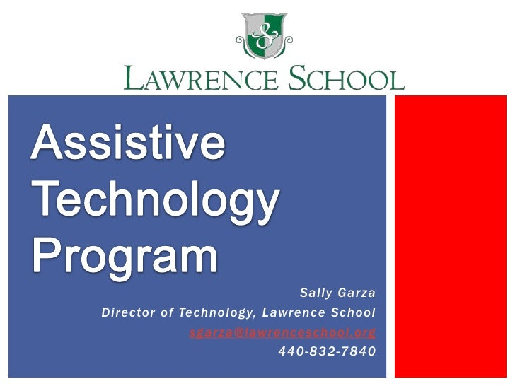 Sally GarzaDirector of Technology, Lawrence School              sgarza@lawrenceschool.org                          440-832...