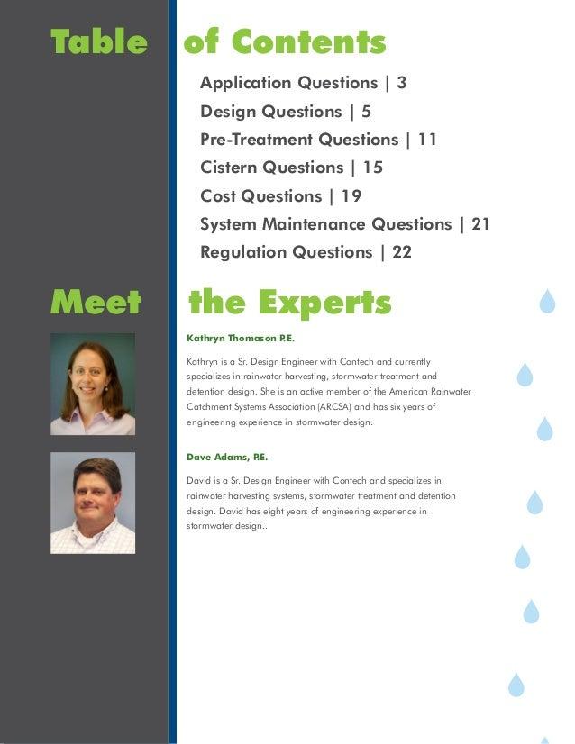 Rainwater Harvesting Answer Book Slide 2