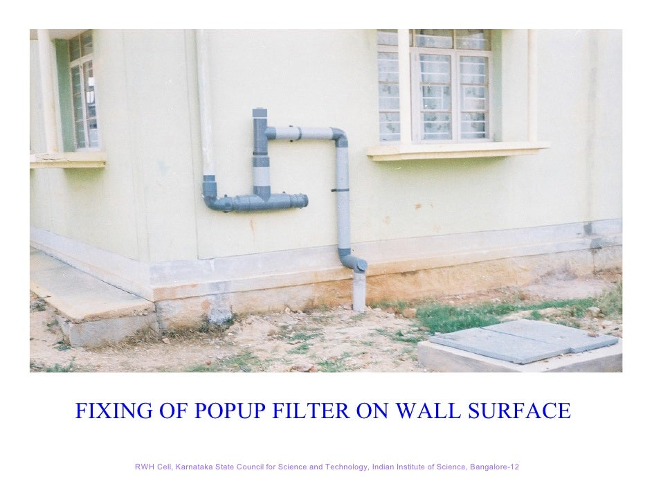 Rain water harvesting kscst 38 fixing of popup filter sciox Images