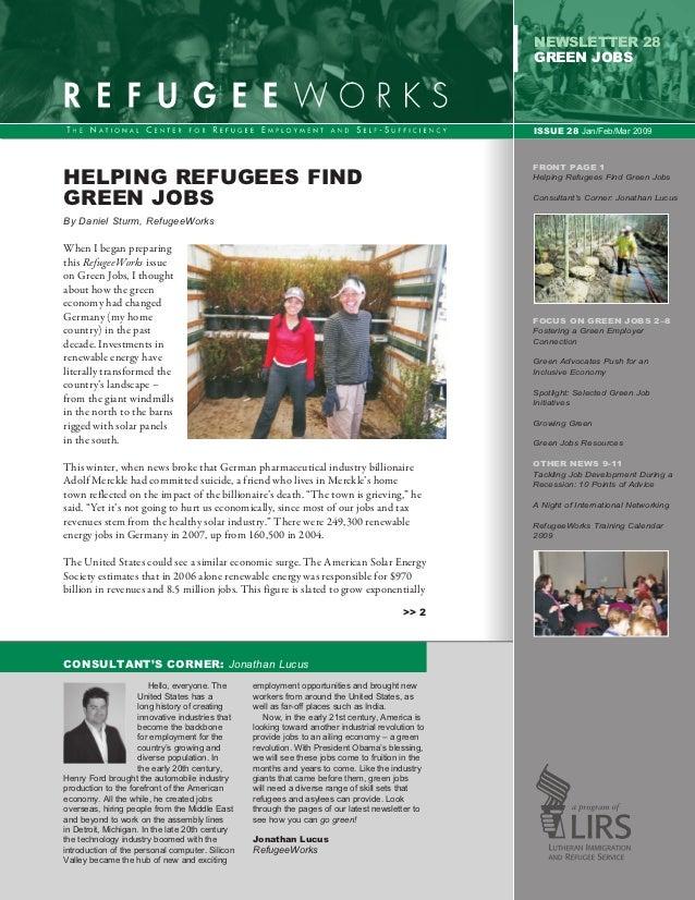 newsletter 28                                                                                                    GREEN job...