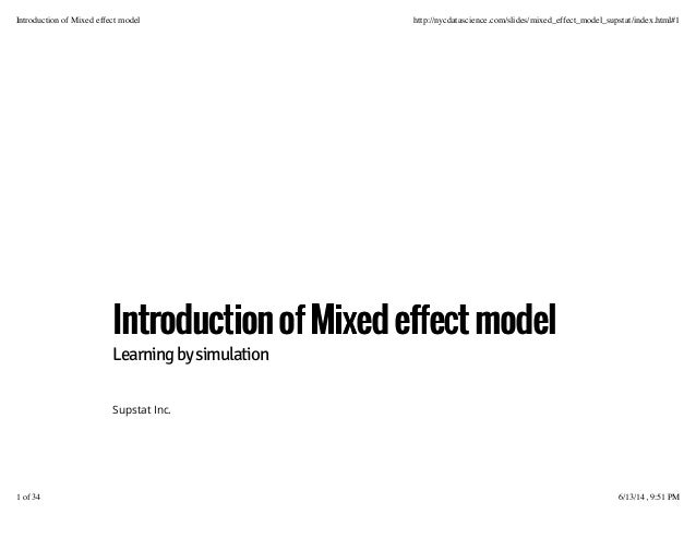 R workshop viii--Mixed Effect Analysis in r (randam and