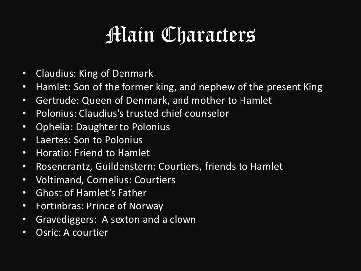 describing hamlets character in william shakespeares play hamlet Ophelia is a character in william shakespeare's drama hamlet she is a young noblewoman of denmark later that night, after the play, hamlet kills polonius.