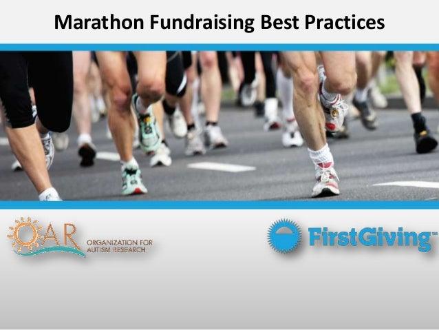 Marathon Fundraising Best Practices