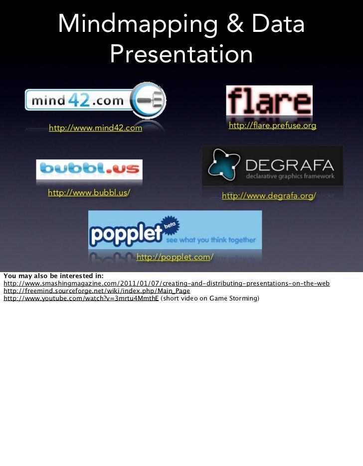 Mindmapping & Data                   Presentation            http://www.mind42.com                               http://fla...