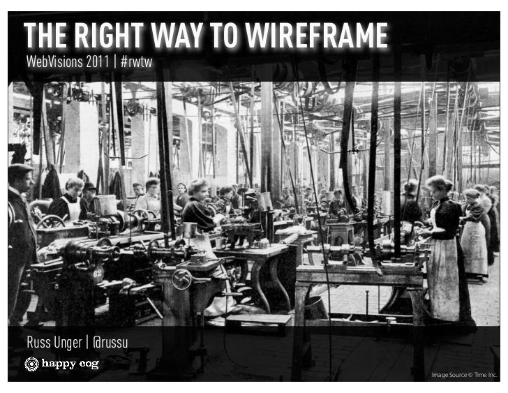 THE RIGHT WAY TO WIREFRAMEWebVisions 2011 | #rwtwRuss Unger | @russu