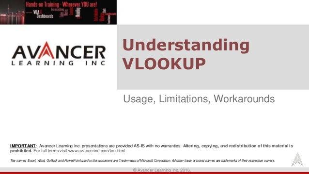 Understanding Vlookup - Uses, Limitations, Workarounds