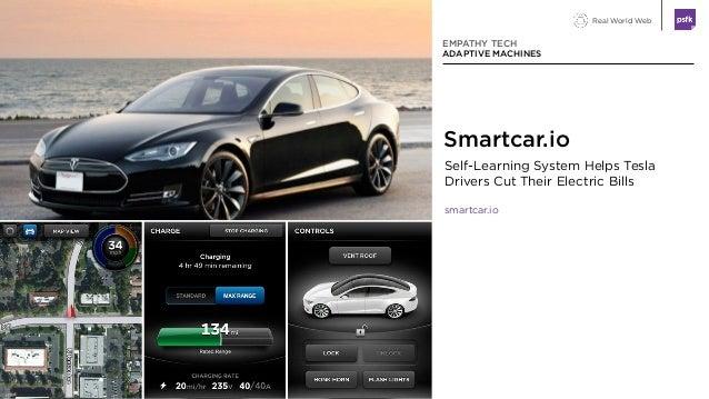 Real World Web Self-Learning System Helps Tesla Drivers Cut Their Electric Bills smartcar.io EMPATHY TECH ADAPTIVE MACHINE...