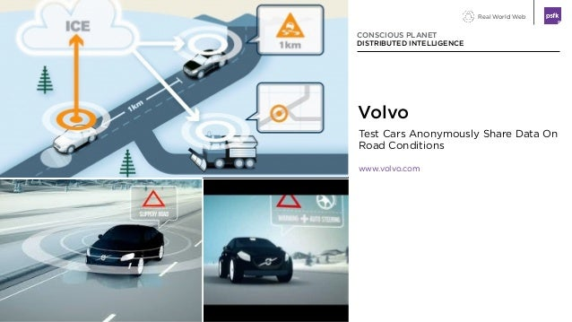 Real World Web Test Cars Anonymously Share Data On Road Conditions www.volvo.com CONSCIOUS PLANET DISTRIBUTED INTELLIGENCE...